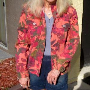Chicos cotton blend multicolor  jacket. Size 1